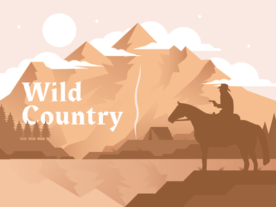 Wild Country west wild country mountain graphic design dribbble artwork design illustration