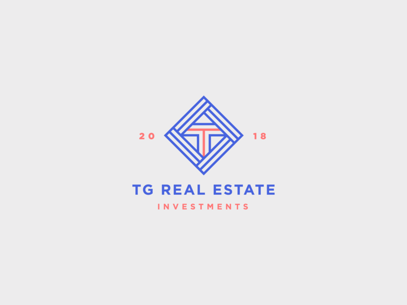 TG Real Estate Logo icon vector graphic design digital design branding logo