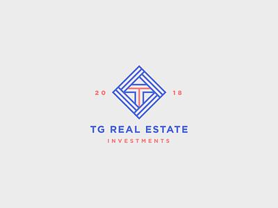 TG Real Estate Logo icon vector graphic design digital design branding logo