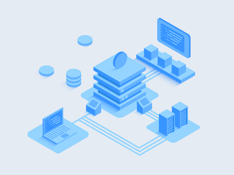 Decentralized Marketplace blockchain shot vector isometric digital design graphic design artwork illustration