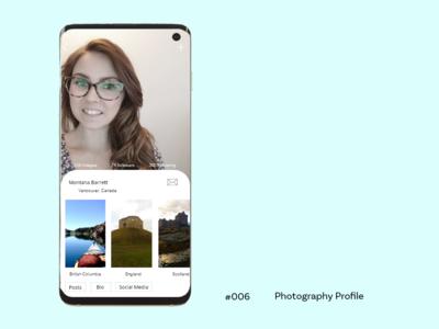 Daily UI  -  Profile 006