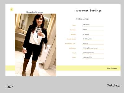 Daily UI - Settings 007