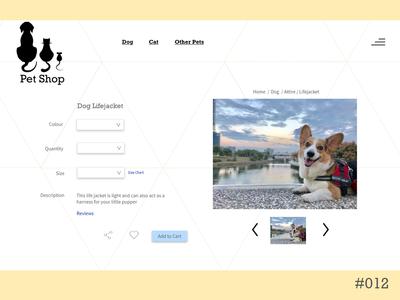Daily UI - ecommerce 012