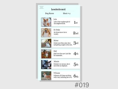 Daily UI - Leader board 019
