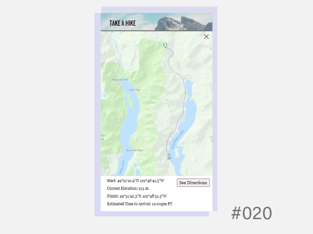 Daily UI - Location Tracker 020 ui design dailyuichallenge daily ui dailyui 020