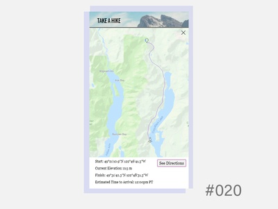 Daily UI - Location Tracker 020