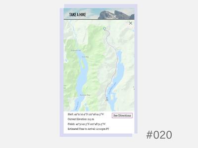 Daily UI - Location Tracker 020