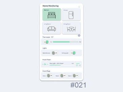 Daily UI - Home Monitoring 021