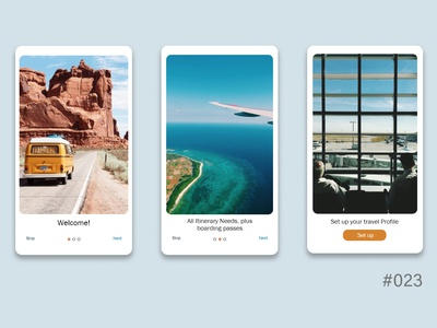 daily UI - Onboarding 023