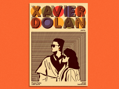 Xavier Dolan x barStudio gigposter outdoor handlettering lettering doodles typography vintage branding print illustration design
