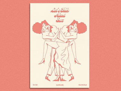 Let's talk about sex x barStudio graphics vector vintage typography doodles branding illustration gigposter typogaphy design poster print design print