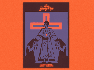 The Young Pope x movie poster logo graphics lettering typography vintage branding design print illustration movieposter pope