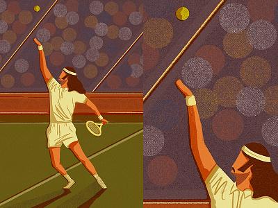 Tennis editorialillustration tennis procreate illustration