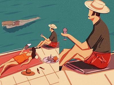 Summer procreate editorial summer illustration editorial illustration