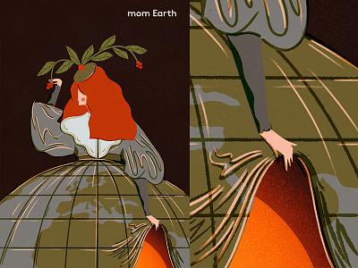 Mom Earth gigposter logo doodles typography print branding design illustration illustrator ecology savetheplanet earth