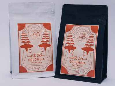 Colombia coffee label