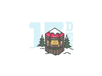 Christmas Market |Illustration