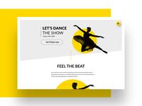 Let's Dance Landingpage Concept app ui website web webdesign ux screen portfolio dance landingpage design branding