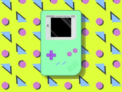 Nintendo Gameboy Illustration