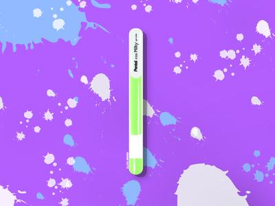 Pentel Milky Pen Illustration
