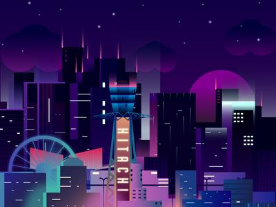 Osaka At Night gleam