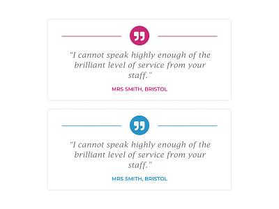 Block Quotes modal box ux web design graphic design typography branding blue ui james villa holidays design