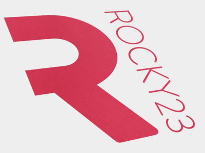 Rocky 23 logo illustrator graphic design red logo