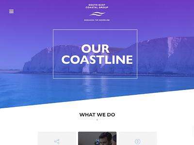 Work in progress cliff sea blue purple header gradient design photoshop web design
