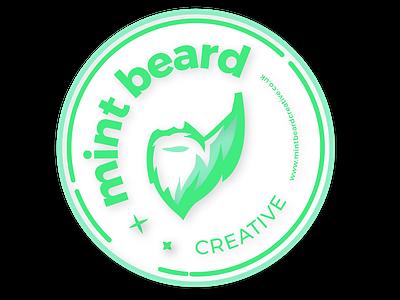Mint beard creative coaster canterbury web design sticker mule graphic design agency logo design
