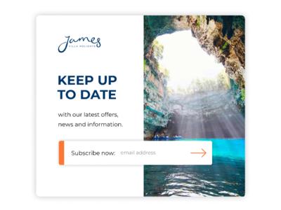 Version 2 signup modal for James Villa Holidays
