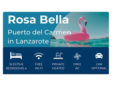 James villas accommodation page header vacation holiday pink flamingo agency mobile design james villa holidays typography web design icon ux ui branding blue illustration graphic design