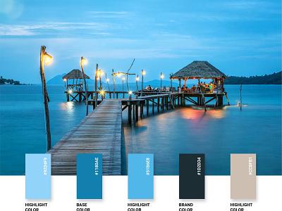 Color Palette blue collage brand identity color palette