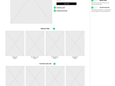 Online Clothing Company Wireframe productdesign userexperience ux wireframe design wireframe