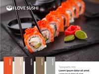 I Love Sushi App - Style Tile