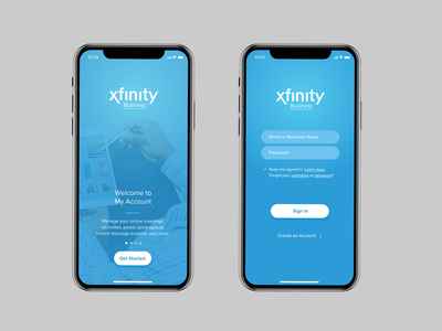 Xfinity Business, Inspirational UI Design