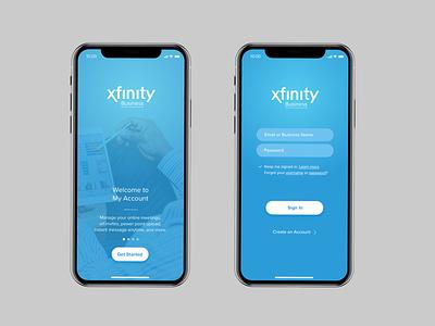 Xfinity Business, Inspirational UI Design business media telecom telecommunication comcast xfinity mobile app design ux user experience app design ui product design user interface