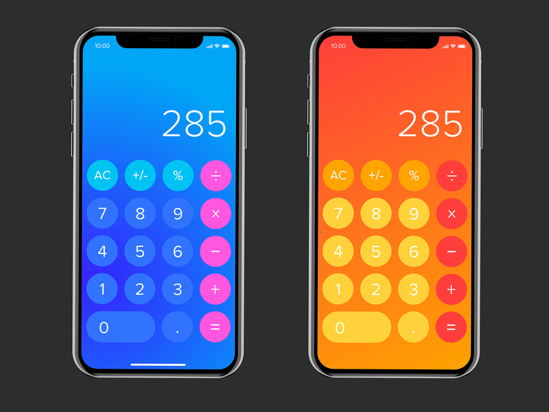 Calculator - Summer Time app design ux mobile app design user experience ui product design user interface calculator app calculator ui calculator