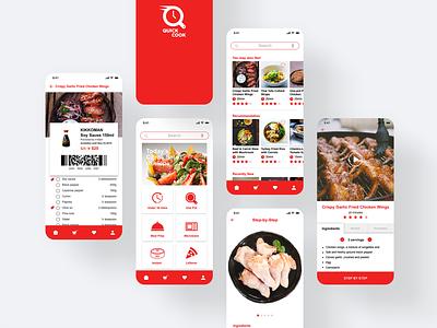 QUICK COOK - Prototype Mobile App for Millennial Moms product design toronto foodie uidesign ux desgin interaction design food app millennials cooking app