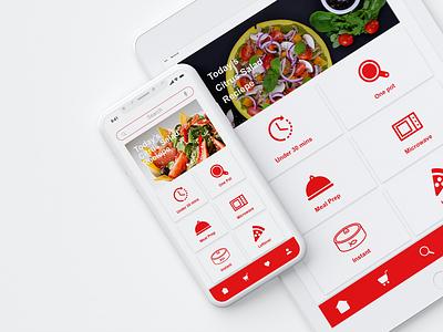QUICK COOK - Prototype Mobile App for Millennial Moms toronto product design ux desgin uidesign interaction design food app millennials cooking app