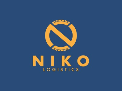 NIKO Logistics / Logo tire transport art vector design illustration branding logo