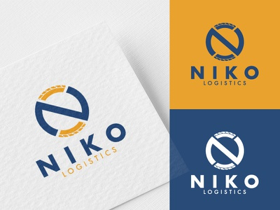 NIKO Logistics / Logo tire transport art vector design illustration branding logo