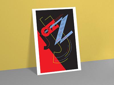 Jazz Festival Poster music poster jazz typography vector letter design art logo illustration