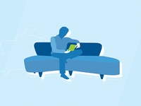 Reading & Relaxing Icon