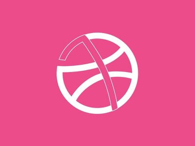 1 Dribbble Invitation number ball one invitation dribbble