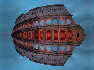 Colosseum / Rome history ancient vertical sky reflection rome colosseum