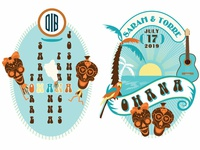 OHANA Beer Label Logos