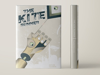 The Kite Runner hardcover spine arm hosseini khaled runner kite dust jacket cover illustration art graphic  design book