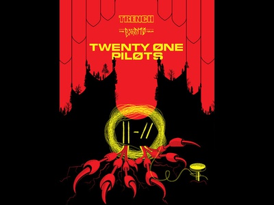 Twenty One Pilots / Poster vulture contest concert poster twenty one pilots vector design illustration