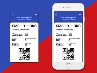 Daily UI Challenge #24 - Boarding Pass