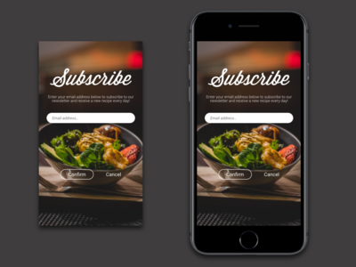 Daily UI Challenge #26 - Subscribe